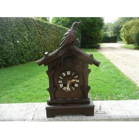 Relógio Antigo Cuco De Mesa Alemão Floresta Negra Em Pinho