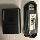Cargador Original Motorola G6 Play Mod Sc-22 5v-3a Microusb