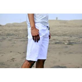 Short _ Bermuda Blanco 100% Algodón + Envio Gratis