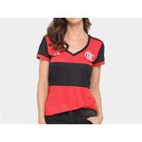 Camisa Flamengo I 17 18 Torcedor adidas Feminina Original cdc99dba14e50