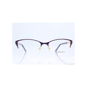 b6e214c0e2b33 Óculos New Versace Ve 1218 1345  Gold Frame With Lens Men Wo ...