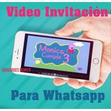 Peppa Pig Tarjeta De Invitación Digital Vídeo Animado Pepa +