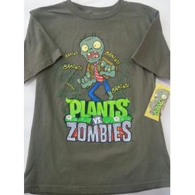 Playera Para Niño Plantas Contra Zombies Talla 10 Años