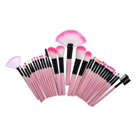 Kit 32 Pincéis De Maquiagem Rosa - Maquiagem no Mercado Livre Brasil 33b4aa8b9c