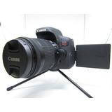 Camara Canon T6i Con Lente 18-55mm 24mpx (usadita 10/10 )