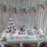 Kit Decoración Fiesta Infantil Frozen 24 Personas 13 Items
