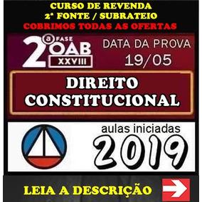 Combo Oab Xxviii + Xxvii Direito Constitucional Premium