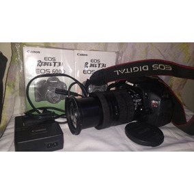 Canon T3i + Efs18-135 So 8k Cliks Bolsa E Acessorios