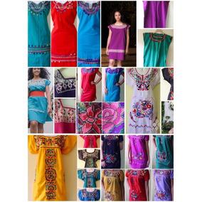Paca 20 Vestidos Artesanales Mexicanos Diseños Surtidos