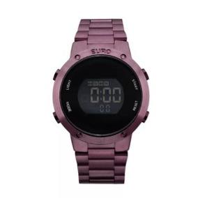Relógio Euro Digital Roxo