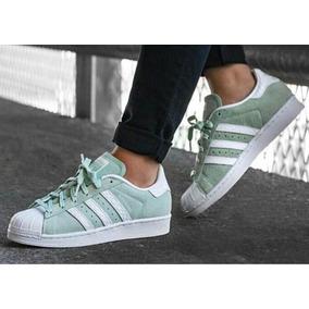 online store 296da c3662 adidas Superstar Gamuza - Verdes, Azules Y Negra