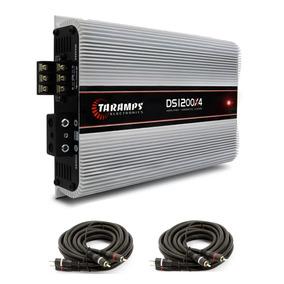 Modulo Taramps Ds 1200x4 1200w Rms 4c 2 Ohms + Cabo Rca