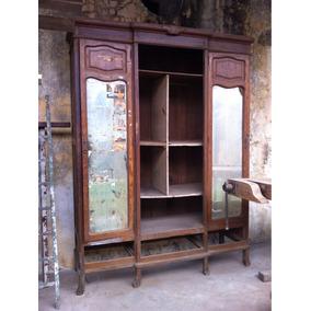 Ropero Antiguo De Roble Decoracion Vintage Oferta!!