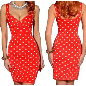 Vestido Rojo Polka Dots Lunares Blancos Vintage