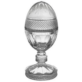 Bomboniere Ovo Com Base Em Cristal Transp. Alta Decoração