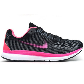 Tênis Feminino Nike Zoom Pegasus 34 Preto E Rosa