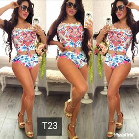 Hermoso Bikini Dos Piezas De Flores Calizas Premium