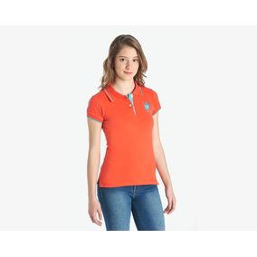 Playera American Polo Naranja Pr-4637162