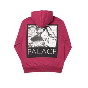 Sudadera Palace - Chip Hood Black - Guinda Cherry - Talla M