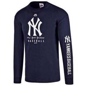 Playera Beisbol Yankees New York Majestic M7164506nk Azul T2