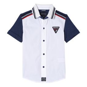 Camisa Nautica Us 83 Taos Mixed Pique Nueva Original White