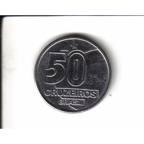 Moeda 50 Cruzeiros Antiga 1992