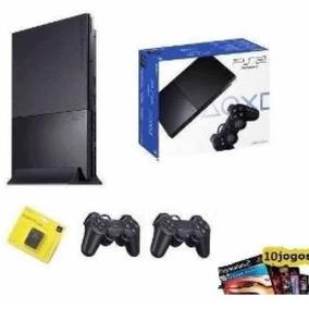Playstation 2 Destravado Mais 20 Jogos E 2 Controle