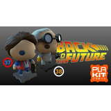 Muñeco, Figura De Acción Marty & Doc. Brown No Funko