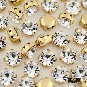 Strass Costura - Dourado Cristal - Ss16 / 4mm - 1.440un