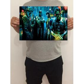 Pôster Watchmen Personagens 43x32 Cm
