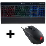 Combo Teclado Gamer Corsair K55 Rgb + Mouse Harpoon Rgb 12ce