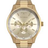 db446d6da89 Relógio Technos Masculino Dourado Luxo Original 6p29ajn 4x