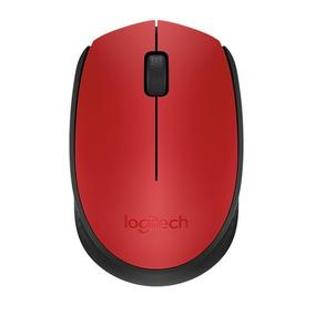 Mouse Wireless Sem Fio Logitech M170 Vermelho 2.4 Ghz