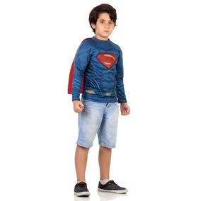 Camiseta Super Homem Músculo Liga Da Justiça Infantil Dc