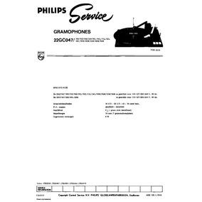 Toca Discos Philips 22gc047 - Manual De Serviço