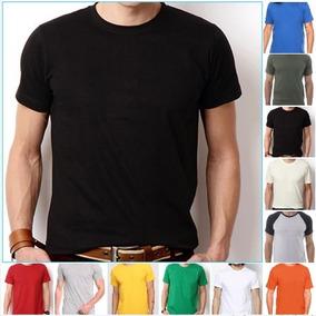 Kit 4 Camisetas Masculina Lisa Basica Algodão Atacado Combo ffe70fe9794
