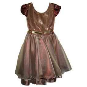 Vestido+festa+infantil+luxo - Vestidos Meninas De Festa Marrom no ... 0b4b7c7f7ad