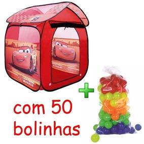 Barraca Cabana Tenda Toca Infantil Carros Piscina De Bolinha