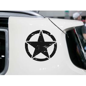 2 Adesivos Estrela Militar Corroída Jeep Renegade Fix Street