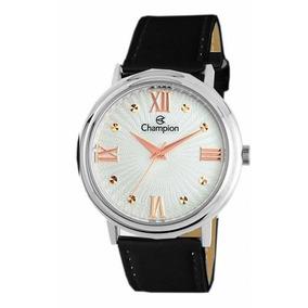 decb11b35e7 Relógio Champion Feminino Grande Couro Prova D