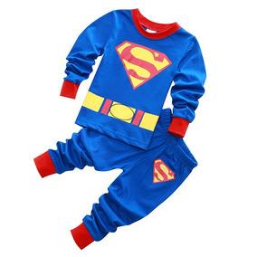 Pijama De Superman Para Niños De 2-7 Años! Envio Gratis.