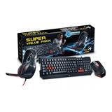 Combo Gamer Gx Kmh 200 Teclado Mouse Auricular