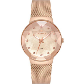 Relógio Technos Feminino Crystal Elegance 2035mpx/5t Rose
