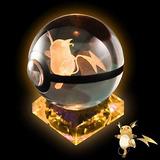 Lampara 3d Led Decoración Bola Cristal Pokemon Assortmart 23