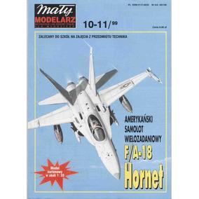F/a-18 Hornet Papercraft Cortar Colar E Montar
