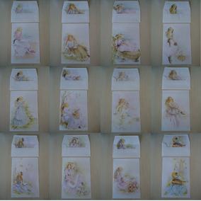 Lote 02 - 12 Unidades Papel Papéis De Carta Julia