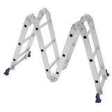 Escada Multifuncional 4x3 Em Alumínio 12 Degraus Mor