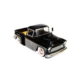 Miniatura Chevy Stepside 1955 Pickup 1:24 Preta Jada Toys