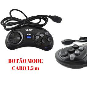 Controle Mega Drive 6 Botoes Novo Compativel Sega Tectoy