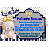 25 Convite Chá De Bebê 9x6 Cm